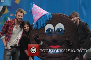 Dave Haywood, Hillary Scott, Charles Kelley Lady Antebellum perform at The Grove to celebrate the 100th Anniversary of Oreo Cookies...