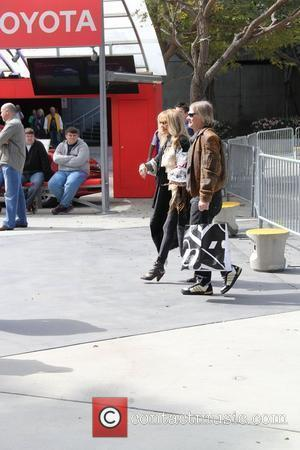 Dyan Cannon and guest arriving at the Staples Centre for the LA Lakers v Boston Celtics basketball game Los Angeles,...
