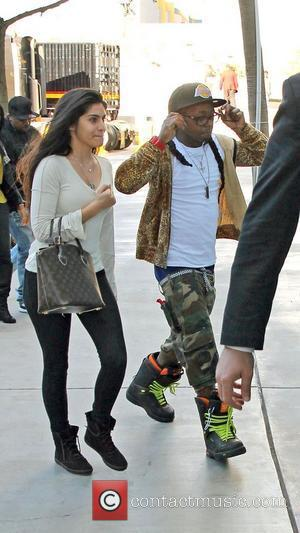 Lil Wayne,  arriving at the basketball match between Los Angeles Lakers and the Chicago Bulls held at the Staples...
