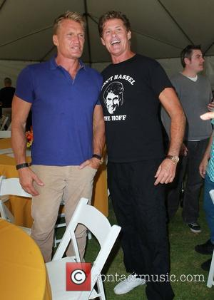 Dolph Lundgren and David Hasselhoff