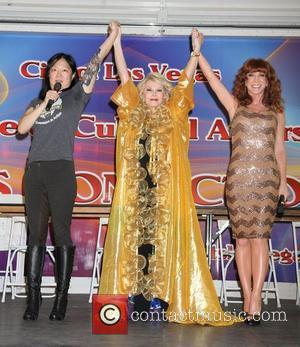 Margaret Cho, Joan Rivers and Kathy Griffin Kathy Griffin, Joan Rivers and Margaret Cho host the 2012 Las Vegas Pride...