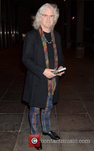 Comedian Billy Connolly Celebrities outside the RTE Studios for 'The Late Late Show' Dublin, Ireland - 14.12.12.