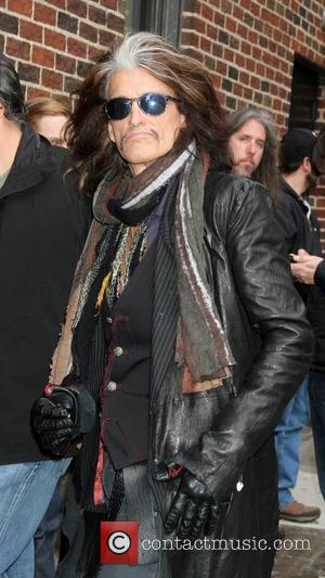 Joe Perry Aerosmith visits the Late Show with David Letterman in New York City. New York City, USA - 01.11.12