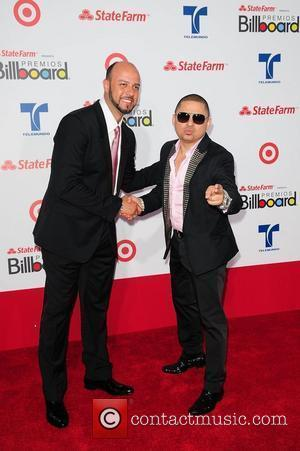 Esteban Loaiza and Larry Hernandez Billboard Latin Music Awards 2012 held at the BankUnited Center - Arrivals Miami, Florida -...