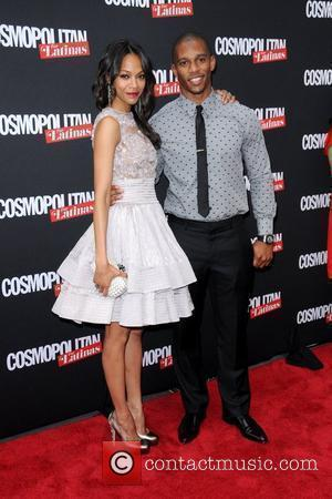Zoe Saldana and Victor Cruz