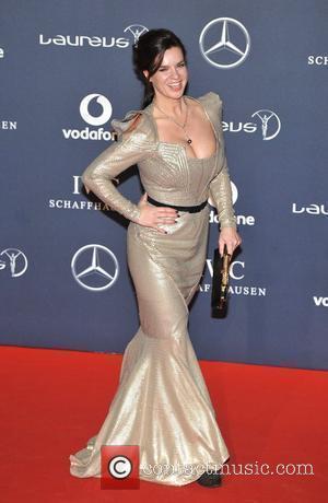 Katarina Witt Laureus Sport Awards held at the Queen Elizabeth II Centre - Arrival. London, England - 06.02.12