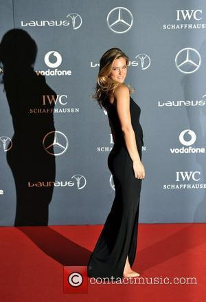 Bar Rafaeli  Laureus Sport Awards held at the Queen Elizabeth II Centre - Arrival. London, England - 06.02.12