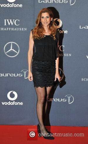 Monica Seles Laureus Sport Awards held at the Queen Elizabeth II Centre - Arrival. London, England - 06.02.12