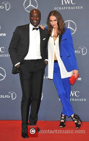 Ozwald Boateng and guest Laureus Sport Awards held at the Queen Elizabeth II Centre - Arrival. London, England - 06.02.12