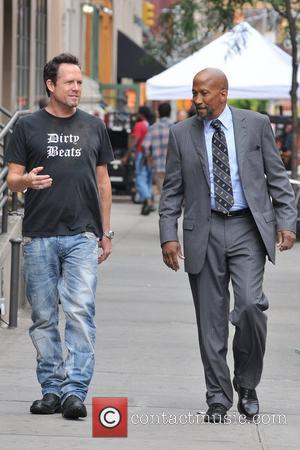 Dean Winters and Reg E Cathey  seen on the set of 'Law & Order: SVU'  New York City,...
