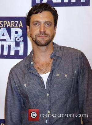 Raul Esparza Photocall with the cast of the Broadway musical 'Leap Of Faith' at the New 42nd Street Studios New...