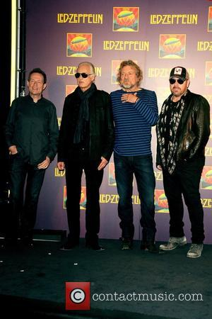 John Paul Jones, Jimmy Page, Robert Plant, Jason Bonham, Led Zeppelin, Celebration Day, Press Conference and New York City