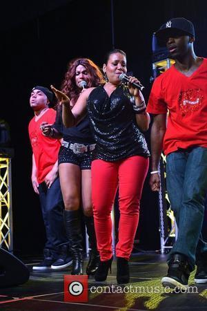 Pepa (Sandra Denton) and Salt (Cheryl James) of Salt-N-Pepa  Legends of Hip Hop Reunion Tour at Nova Southeastern University...