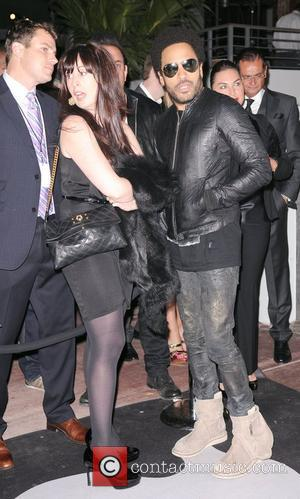 Lenny Kravitz  arrives at the Grand Opening of SLS Hotel South Beach at SLS South Beach in Miami Florida,...