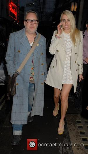 Vic Reeves and Nancy Sorrell ,  at the Leo Bancroft hair salon range launch party at the Ivy Club....