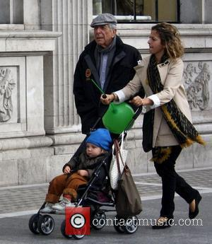 Leonard Cohen out and about with his grandson in Dublin Dublin, Ireland - 16.09.12