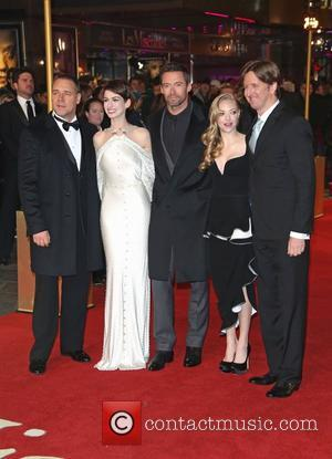Russell Crowe, Anne Hathaway, Amanda Seyfried Hugh Jackman, Tom Hooper and Empire Leicester Square