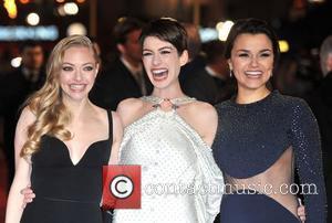 Anne Hathaway, Amanda Seyfreid, Samantha Barks and Empire Leicester Square