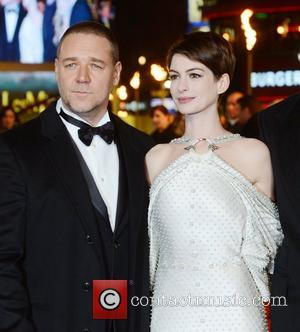 Russell Crowe, Anne Hathaway, Les Miserable, Odeon, Leicester Square, London and England