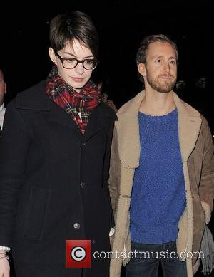 Anne Hathaway, Adam Shulman, Empire Cinema, Leicester Square and Les Miserables