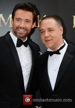 Jokers! Hugh Jackman And Russell Crowe Fool Around At Les Miserables Premiere Down Under