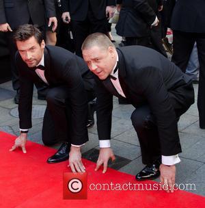 Hugh Jackman, Russell Crowe, Les Miserables Premiere