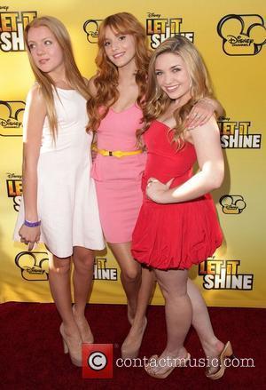 Caroline Sunshine, Bella Thorne, and guest Disney's 'Let It Shine' Premiere held at The Directors Guild Of America Los Angeles,...
