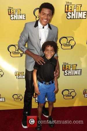 Trevor Jackson and Tyrell Ransom Jr. Disney's 'Let It Shine' Premiere held at The Directors Guild Of America Los Angeles,...
