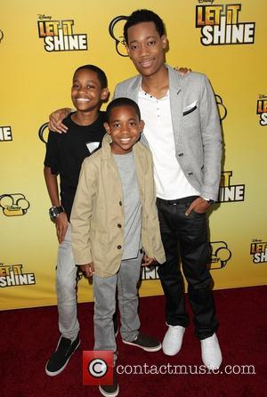 Tyrel Jackson Williams, guest, and Tyler James Williams Disney's 'Let It Shine' Premiere held at The Directors Guild Of America...