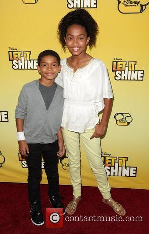 Yara Shahidi and guest Disney's 'Let It Shine' Premiere held at The Directors Guild Of America Los Angeles, California -...
