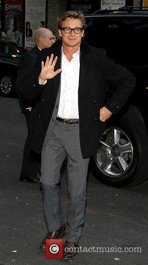 Simon Baker,  at the Ed Sullivan Theater for 'The Late Show with David Letterman'. New York City, USA -...