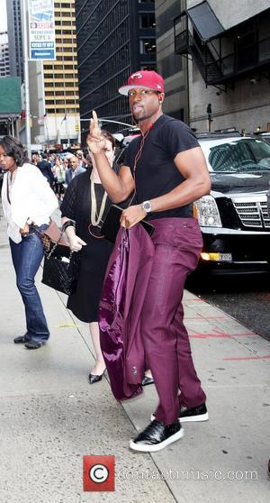 NBA World Champion Dwayne Wade of the Miami Heat at the Ed Sullivan Theater for the 'The Late Show with...