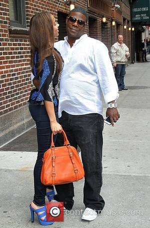 Actor Tracy Morgan and fiance Megan Wollover  arrives at the Ed Sullivan Theater for the 'Late Show with David...