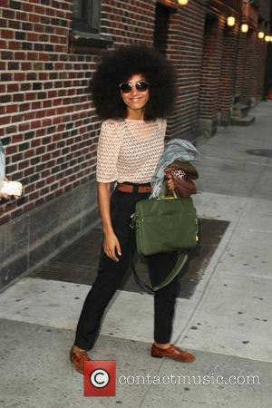Esperanza Spalding leaving The Ed Sullivan Theater after 'The Late Show with David Letterman'  New York City, USA -...