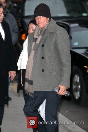 Woody Harrelson  Celebrities at The Ed Sullivan Theater to appear on 'The Late Show with David Letterman' New York...