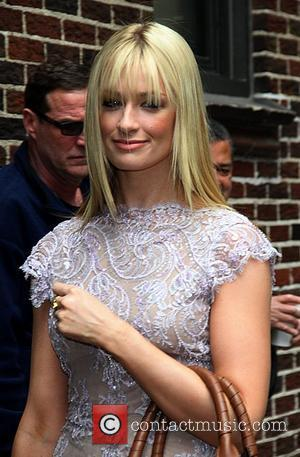 '2 Broke Girls' actress Beth Behrs  Celebrities arrive at The Ed Sullivan Theater for 'The Late Show with David...