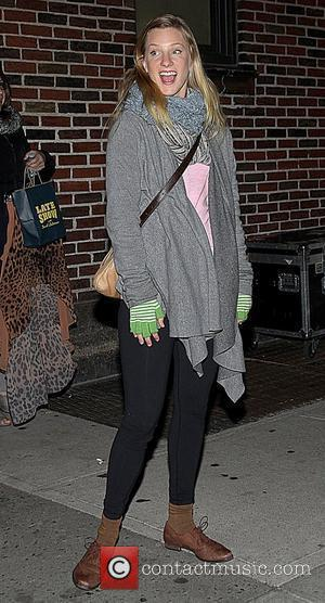 Heather Morris  Celebrities arrive at The Ed Sullivan Theatre to appear on 'The Late Show with David Letterman' New...