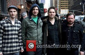 Snow Patrol  Celebrities arrive at The Ed Sullivan Theatre to appear on 'The Late Show with David Letterman' New...