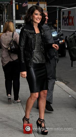 Cobie Smulders Celebrities arrive at The Ed Sullivan Theater to appear on, 'The Late Show with David Letterman' New York...