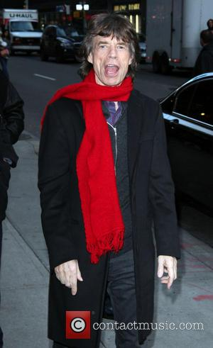 Mick Jagger outside the Ed Sullivan theatre for 'The Late Show' with David Letterman  Featuring: Mick JaggerWhere: New York...