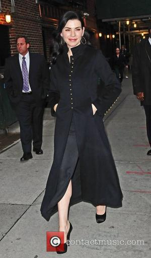Julianna Margulies arrives at the Ed Sullivan Theater for 'The Late Show with David Letterman' New York City, USA -...