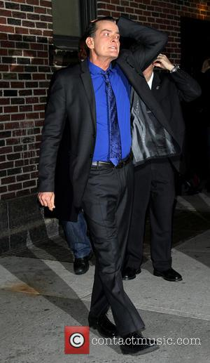 Charlie Sheen Celebrities at the Ed Sullivan Theater for 'The Late Show with David Letterman'  Featuring: Charlie Sheen Where:...