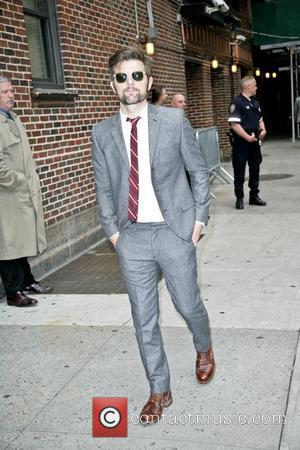 Adam Scott arrives at The Ed Sullivan Theater for 'The Late Show with David Letterman'  New York City, USA...