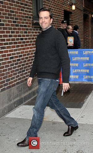 Ed Helms Celebrities at The Ed Sullivan Theater for 'The Late Show with David Letterman'  New York City, USA...