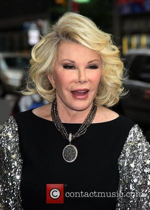 Joan Rivers  Celebrities arriving at The Ed Sullivan Theater for 'The Late Show with David Letterman'  New York...