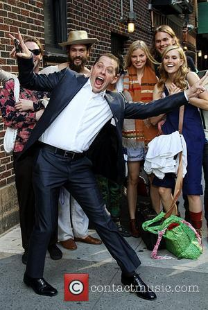 Two and a Half Men actor Jon Cryer  arrives at The Ed Sullivan Theater for 'The Late Show with...