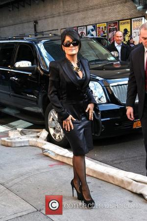 Salma Hayek  'The Late Show with David Letterman' held at the Ed Sullivan Theatre - Arrivals New York City,...
