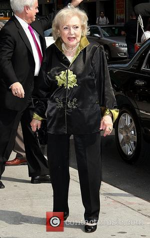 Betty White arrives at The Ed Sullivan Theater for 'The Late Show with David Letterman'  New York City, USA...