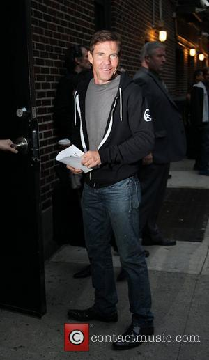 Dennis Quaid  Celebrities at the Ed Sullivan Theater for 'The Late Show with David Letterman' New York City, USA-...