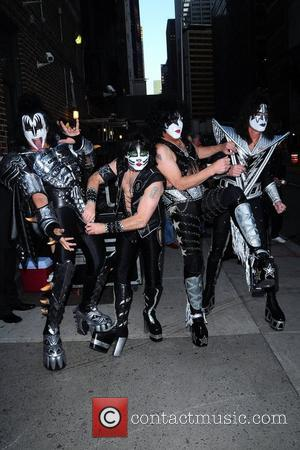 Kiss 'The Late Show with David Letterman' held at the Ed Sullivan Theatre - Arrivals New York City, USA -...